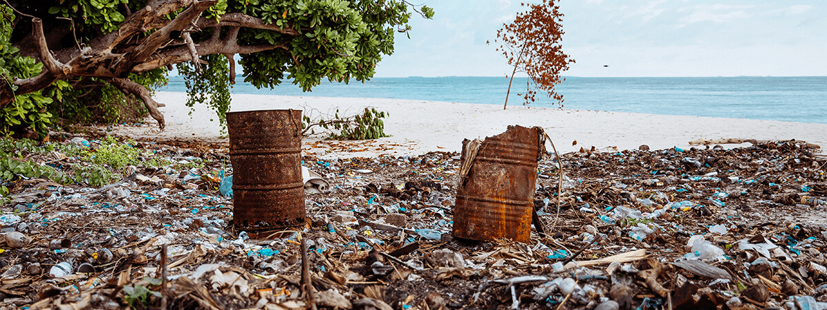 Polluted beach image for carousel three
